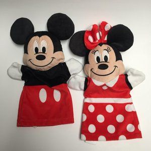 Disney Mickey and Minnie Mouse Hand Puppets